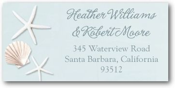 Sweet Starfish - Personalized Address Labels - Bonnie Marcus - Lightest Turquoise - Blue : Front