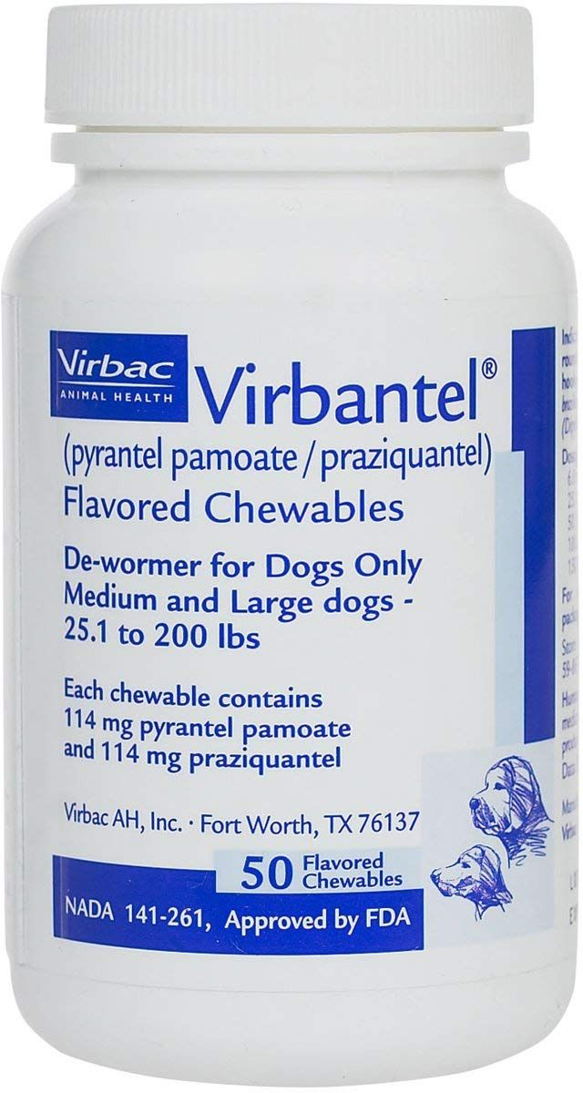 Virbantel Flavored Chewable Tablets Dewormer For Dogs Pyrantel Pamoate Praziquantel Effective Against Roundworms Hookworm Roundworm Dogs Diy Dog Stuff