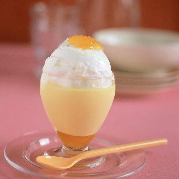 Ile flottante façon œuf à la coque. Cliquez sur la photo pour la recette