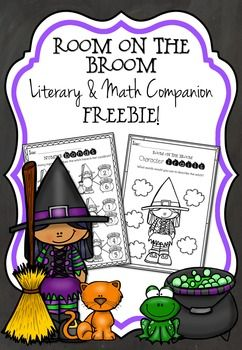 This Halloween Room on the Broom Freebie includes two number bond no prep worksheets (with additional answer sheets) and character traits of the witch and the dragon.These are part of my 183 page Room on the Broom Literary and Math Companion which contains all you need to introduce students to the wonderful story Room on the Broom by Julia Donaldson.