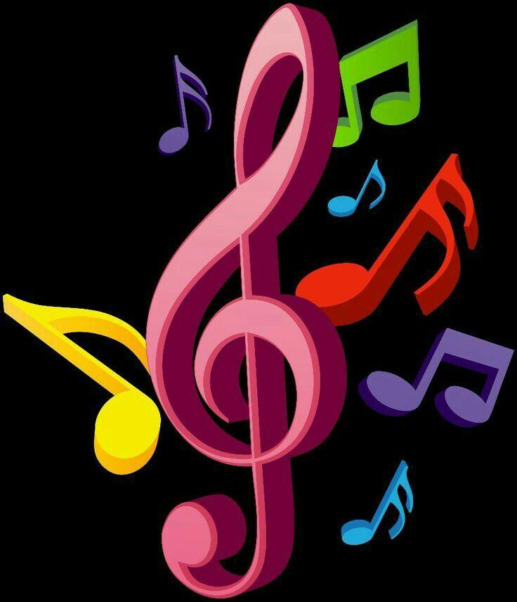 Pin De Patricia Silva Dos Santos Em Muzica Notas Musicais Coloridas Arte Com Notas Musicais Nota Musical Desenho
