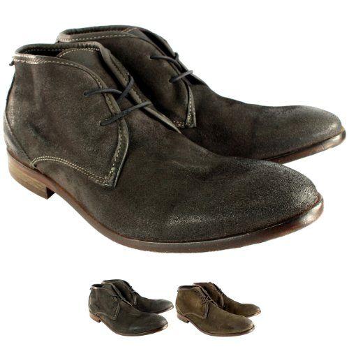 Herren H By Hudson Cruise Wildleder Schnüren Schuhs Smart Knöchel Stiefel - http://on-line-kaufen.de/h-by-hudson-2/herren-h-by-hudson-cruise-wildleder-schnueren