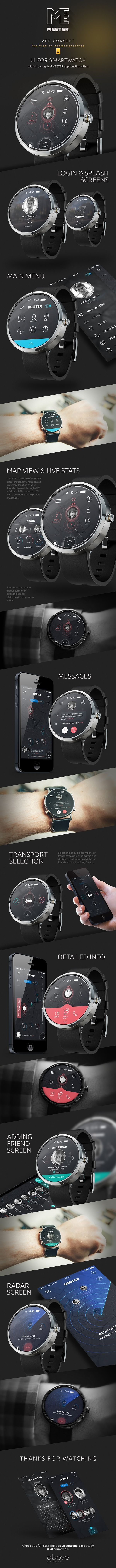 MEETER for SmartWatch on Behance