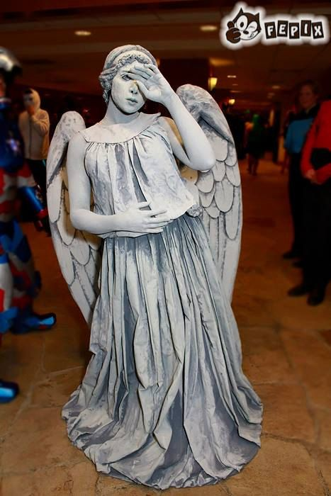 HALLOWEEN... Weeping Angel Costume by CrimsonRoseCouture on Etsy ... only $1500 !