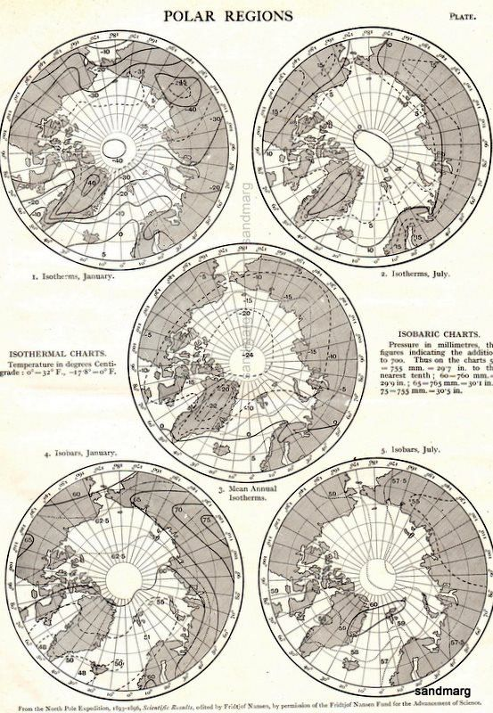Best Weather Maps Isobars Images On Pinterest Vintage Maps - Isothermal map of us
