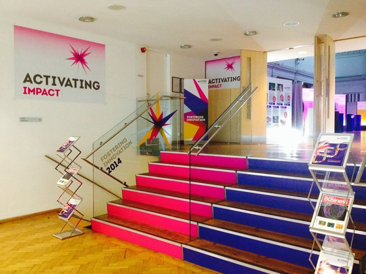 Lindley Hall foyer decorated for Activating Impact Exhibition