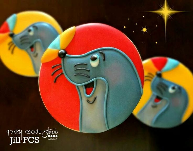 Silly, sassy, seals by Jill FCS.