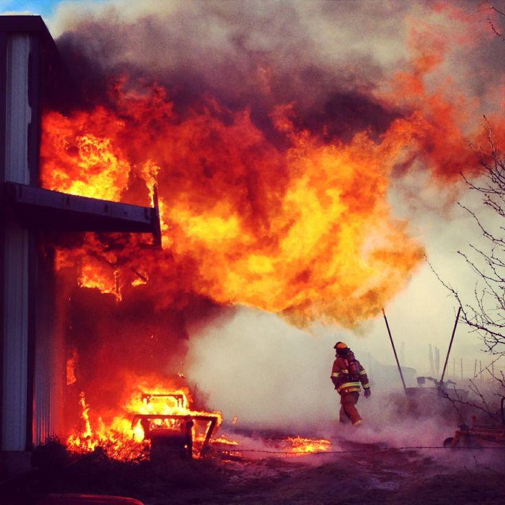 A photo of me at yesterday's commercial structure fire
