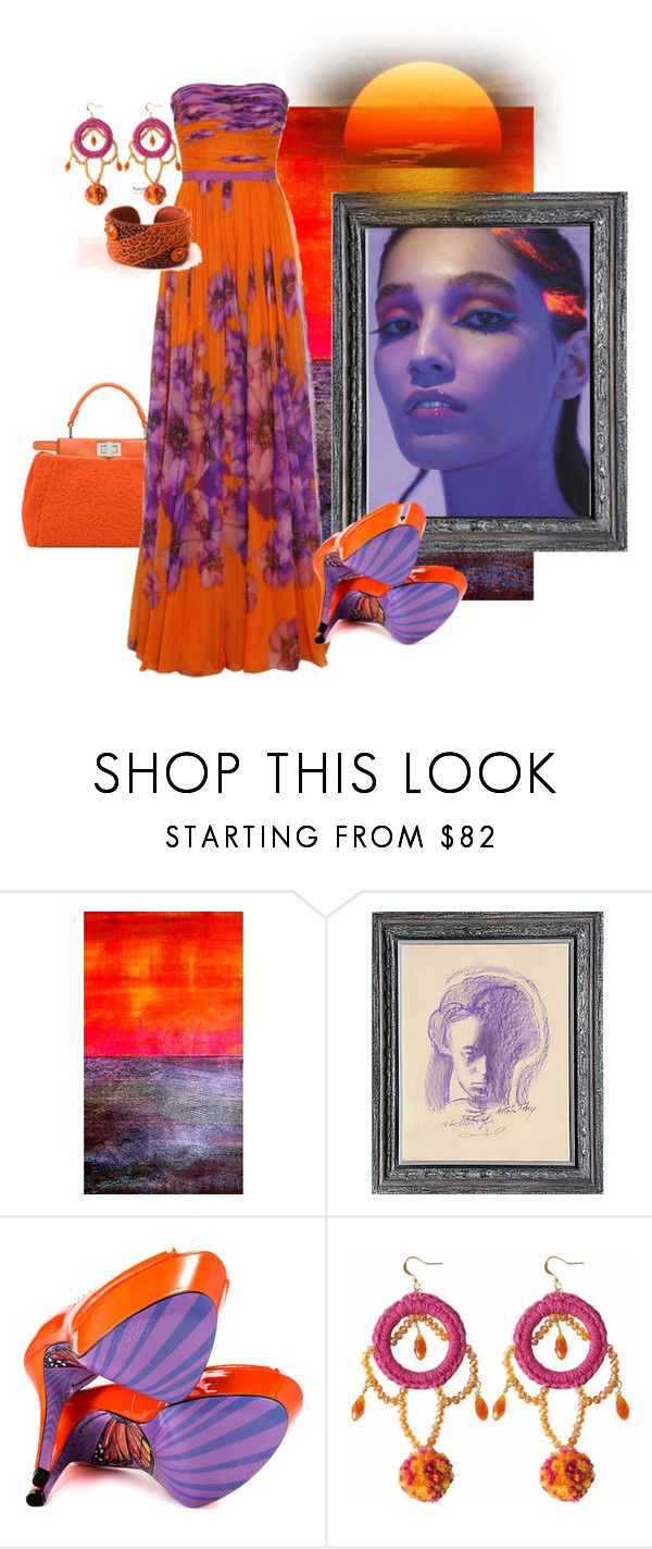 """Shimmering Sunset.."" by audrey-prater ❤ liked on Polyvore featuring 3ina, TaylorSays and Ricardo Rodriguez"