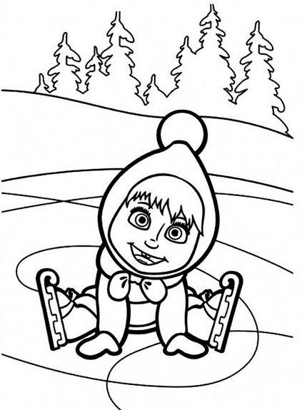 Masha And The Bear Drawing