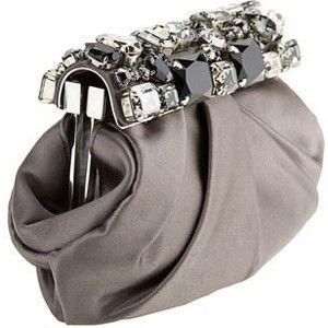 - PRADA Satin & Stone Embellished Clutch.<3