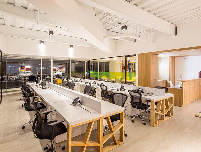 Office area inside GAIA Building - a contemporary landmark in Quito, Ecuador