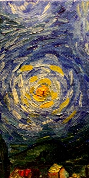 Van Gogh Starry night detail