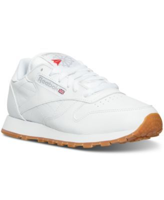 Reebok Women's Classic Leather Casual Sneakers from Finish Line | macys.com