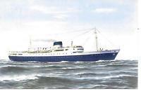 SS STELLA MARIS SUN LINE  OCEAN LINER postcard 1959 mailed...