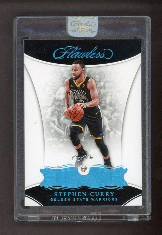 2017-18 Panini FLAWLESS PLATINUM DIAMOND Stephen Curry Warriors 1 1 ... afb9679a9