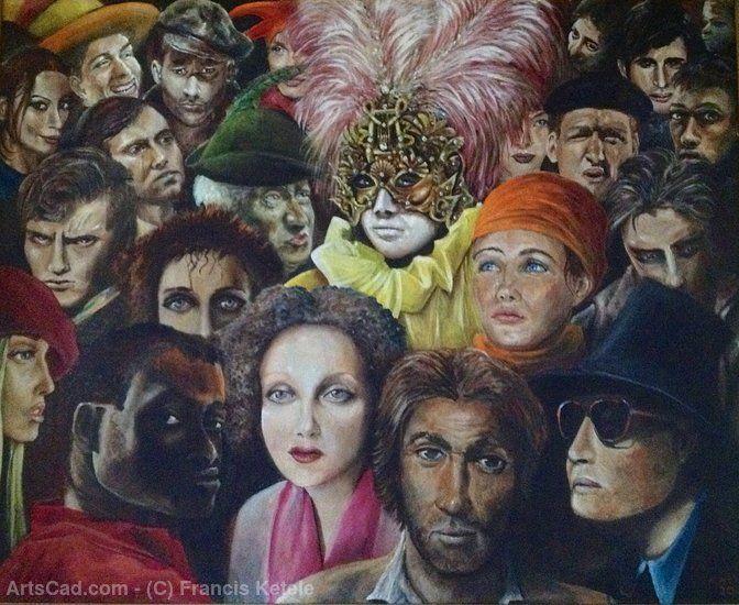 Произведения Искусства >> Francis Ketele >> Толпа в Венеции