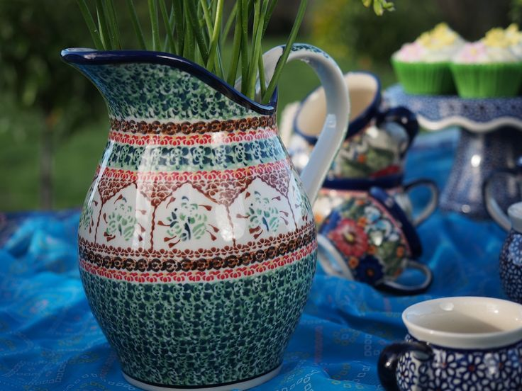 Polish pottery Large Pitcher from Blue Jasmine Ltd