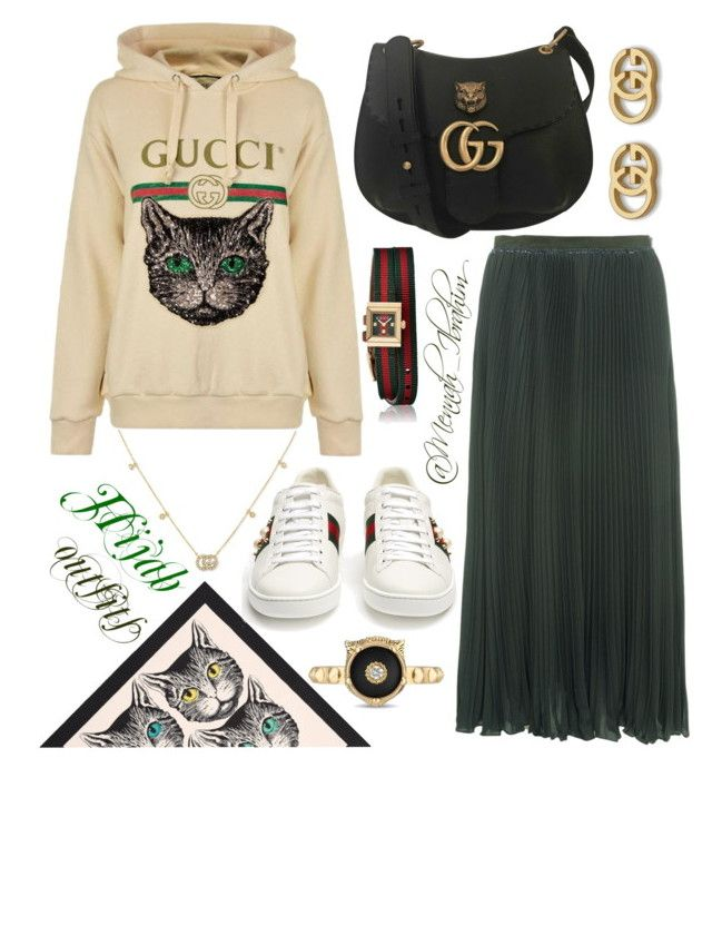 """""""#Hijab_outfits #modesty #Casual #Gucci"""" by mennah-ibrahim on Polyvore featuring Gucci and French Connection"""