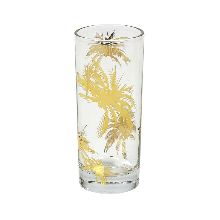 Decorated With Gold Plated Palm Trees, The Palm Tree Highball Brings A  Touch Of