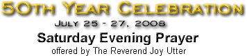 Reunion Prayer offered by The Reverend Joy Utter