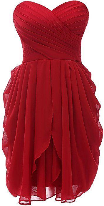 52a9f950115 Kiss Dress Strapless Short Prom Dresses Chiffon Bridesmaid Dresses ...