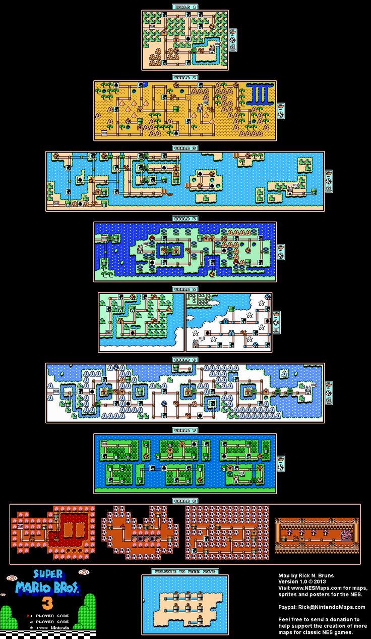 Super Mario Bros. 3 Overworld Maps