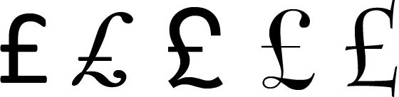 """typography - What does a """"normal"""" British pound sign look like? - Graphic Design Stack Exchange"""