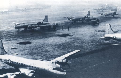Berlin Airlift - C-54's at Tempelhof Airport in Berlin during the Airlift.