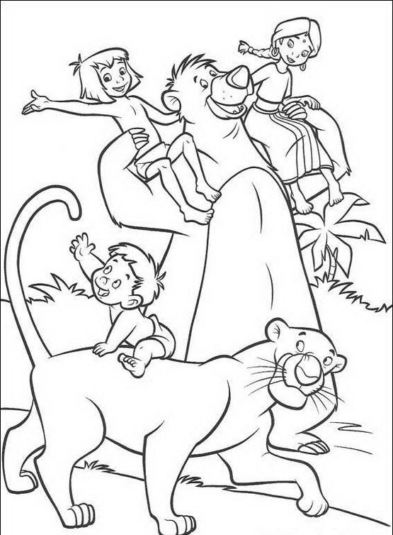 39 best images about mowgli e baloo disegni da colorare for Disegni da colorare walt disney