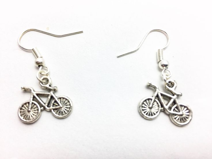Bicycle Charm Earrings, Tiny Bicycles, Gift for Cyclist, Tour De France, Fun Earrings, Christmas gift https://www.etsy.com/listing/524064847/bicycle-charm-earrings-tiny-bicycles?utm_campaign=crowdfire&utm_content=crowdfire&utm_medium=social&utm_source=pinterest