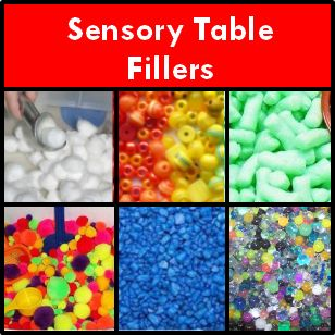 a list of ideas for filling your preschool sensory table