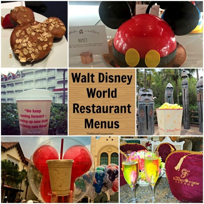 Full list of Walt Disney World Restaurant Menus - for Walt Disney World Theme Parks, Resorts & Disney Springs. Includes Disney Food photos and Restaurant Reviews
