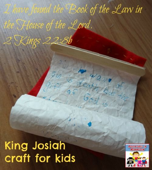 I love this King Josiah lesson for kids. It's so much fun!