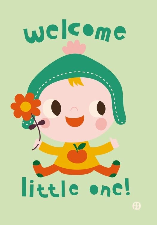 #Card Welcome little one by Bora from www.kidsdinge.com https://www.facebook.com/pages/kidsdingecom-Origineel-speelgoed-hebbedingen-voor-hippe-kids/160122710686387?sk=wall http://instagram.com/kidsdinge #kidsdinge #toys #speelgoed #kids