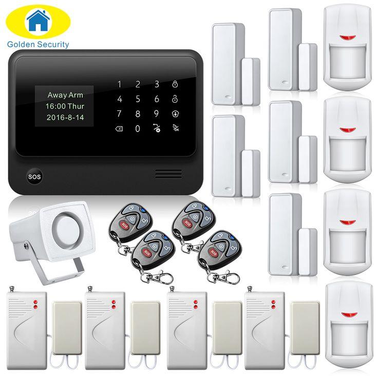 2.4G WiFi Alarm System Wireless GSM Alarm System Dual Antenna Home Alarm Water Leak Detector Sensor Kit Door Close Reminder