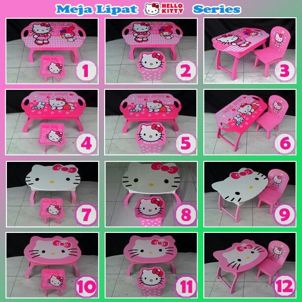 Meja lipat hellokitty series Simplemejabelajaranak.blogspot.com  Sms/ whatsapp 085649626866