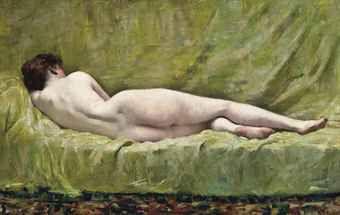 Лежащая обнажённая 1919