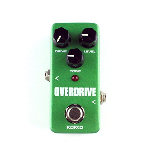 Guitar Mini Effects Pedal Over Drive - Warm and Natural Tube Overdrive Effect Sound Processor Portable Accessory for Guitar and Bass - FOD3  EFFECTS - Delivers that warm, natural tube overdrive sound. True bypass hardware switching. USE TO CONTROL - By rotating the knobs you can boost the guitar amp for colorful tone or overdrive itself for unique pedal sound.  USE TO CONTROL - By rotating the knobs you can boost the guitar amp for colorful tone or overdrive itself for unique pedal sou...