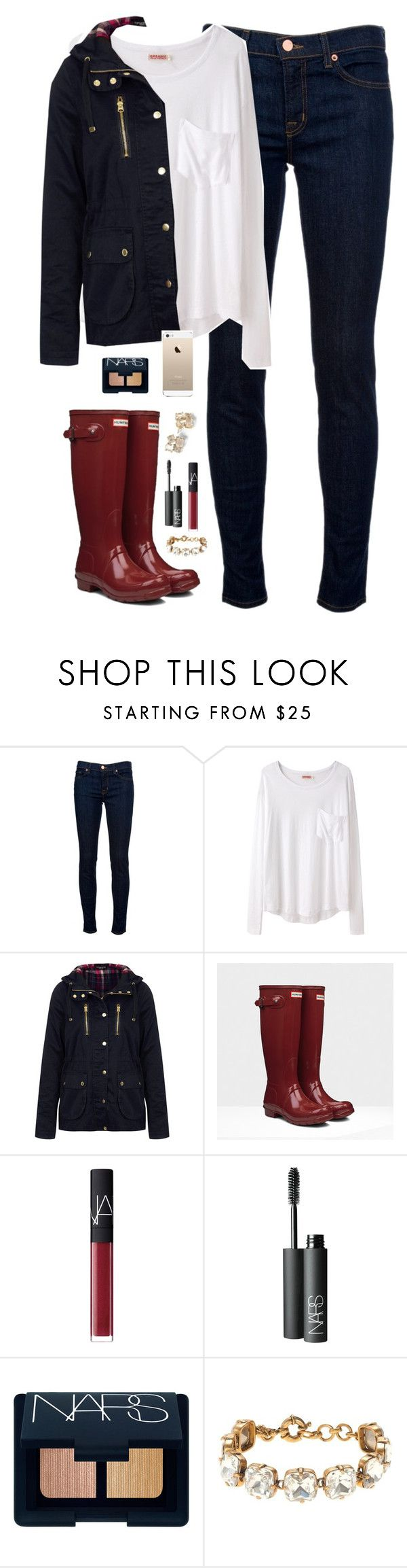 day off school by classically-preppy on Polyvore featuring Organic by John Patrick, Topshop, J Brand, Hunter, J.Crew, NARS Cosmetics and Kate Spade