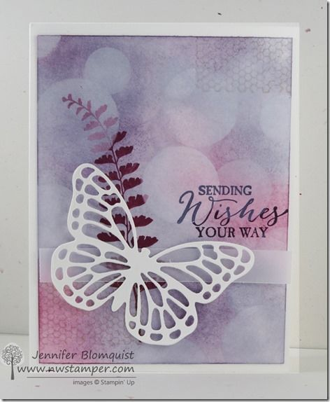 Butterfly Basics Bokeh CASE–a Pretty Purple Card! | Northwest Stamper