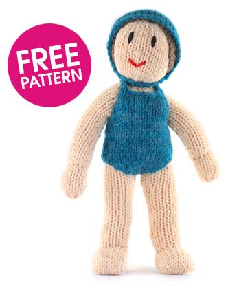 Free pattern to knit a doll...  Maybe for a humanitarian aid trip you know of ?  The kids would just ♥ it !