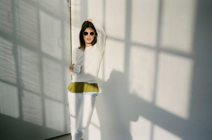 Hanneli- love.: Copenhagen, Pastel, Green Tops, Hann Black Beard, Style, Blue, Colors, Olives Green, White Jeans