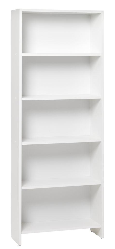Boekenkast GISLINGE 5 schappen wit | JYSK