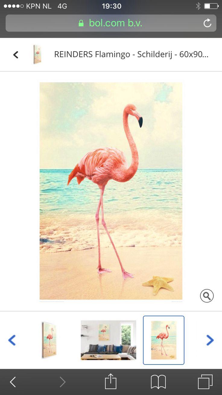 Flamingo schilderij- bol.com