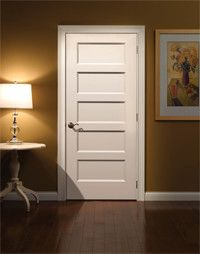 Craftsman Clean In White 5 Panel Door