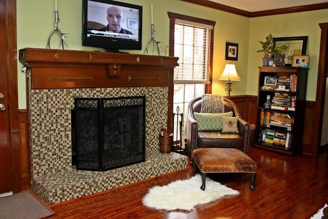 Tile Over Brick Fireplace Remodeling Pinterest