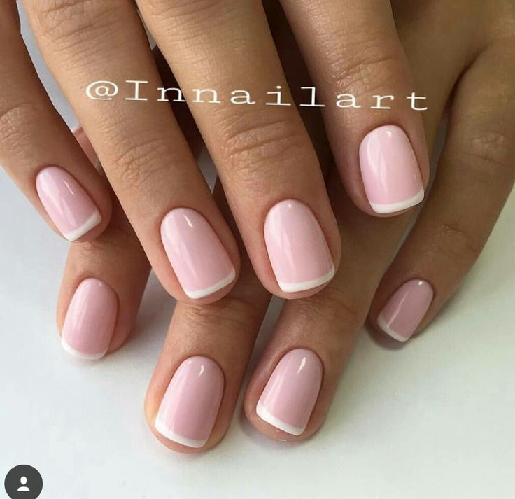 beautiful pink french manicure