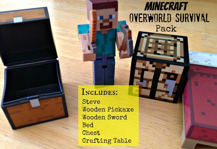 #Minecraft Overworld Toys - Steve Survival Pack!  My kids think these are the #BestMinecraftToys and yours will too!  Good gifts for 10 year old girls and boys.
