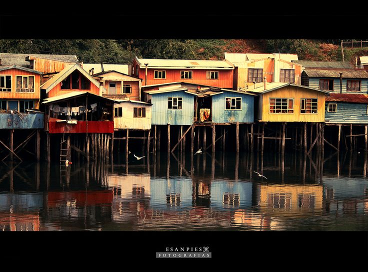 Palafitos de Chiloé, Chile.